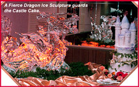 Dragon ice carving