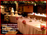 Head table w cake and satellite table