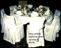 The Romance of an All white Wedding including Chair Covers