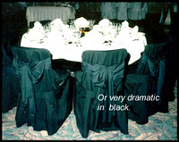 Dramatic Black Chair Covers